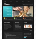54114 Music, Education, Full Site, CSS, Wide Templates, jQuery Templates, HTML 5 PSD Templates