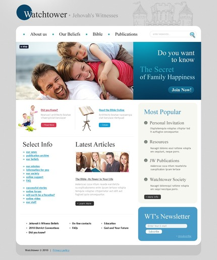 PSD макет сайта №54241