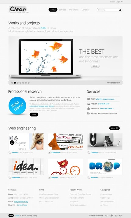 PSD макет сайта №54269