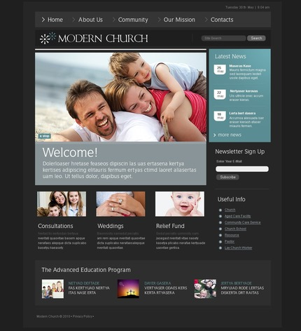 PSD макет сайта №54295