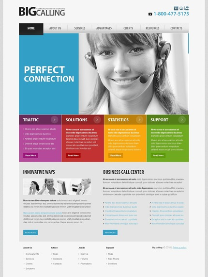 PSD макет сайта №54486