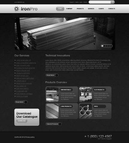 PSD макет сайта №54507