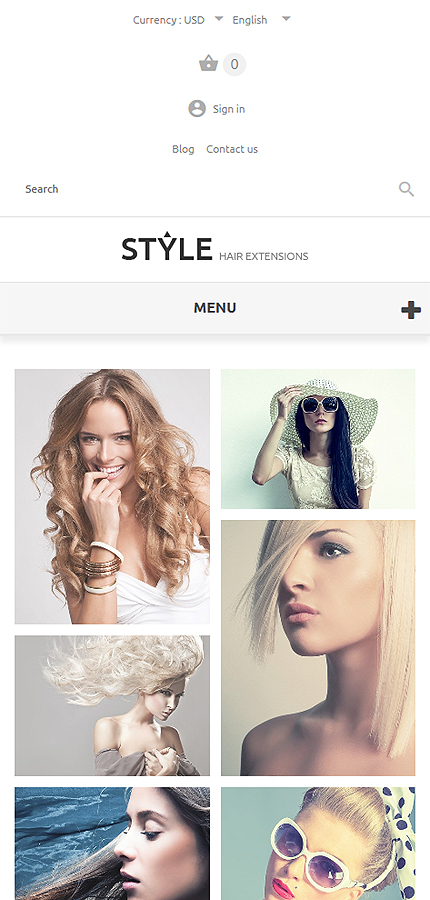 HairStyle PrestaShop Theme Smartphone Layout 1