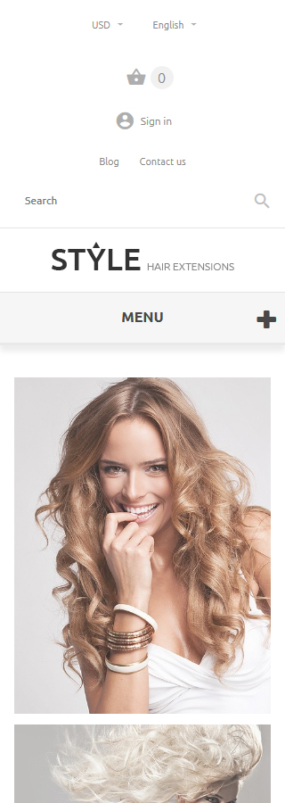 HairStyle PrestaShop Theme Smartphone Layout 2