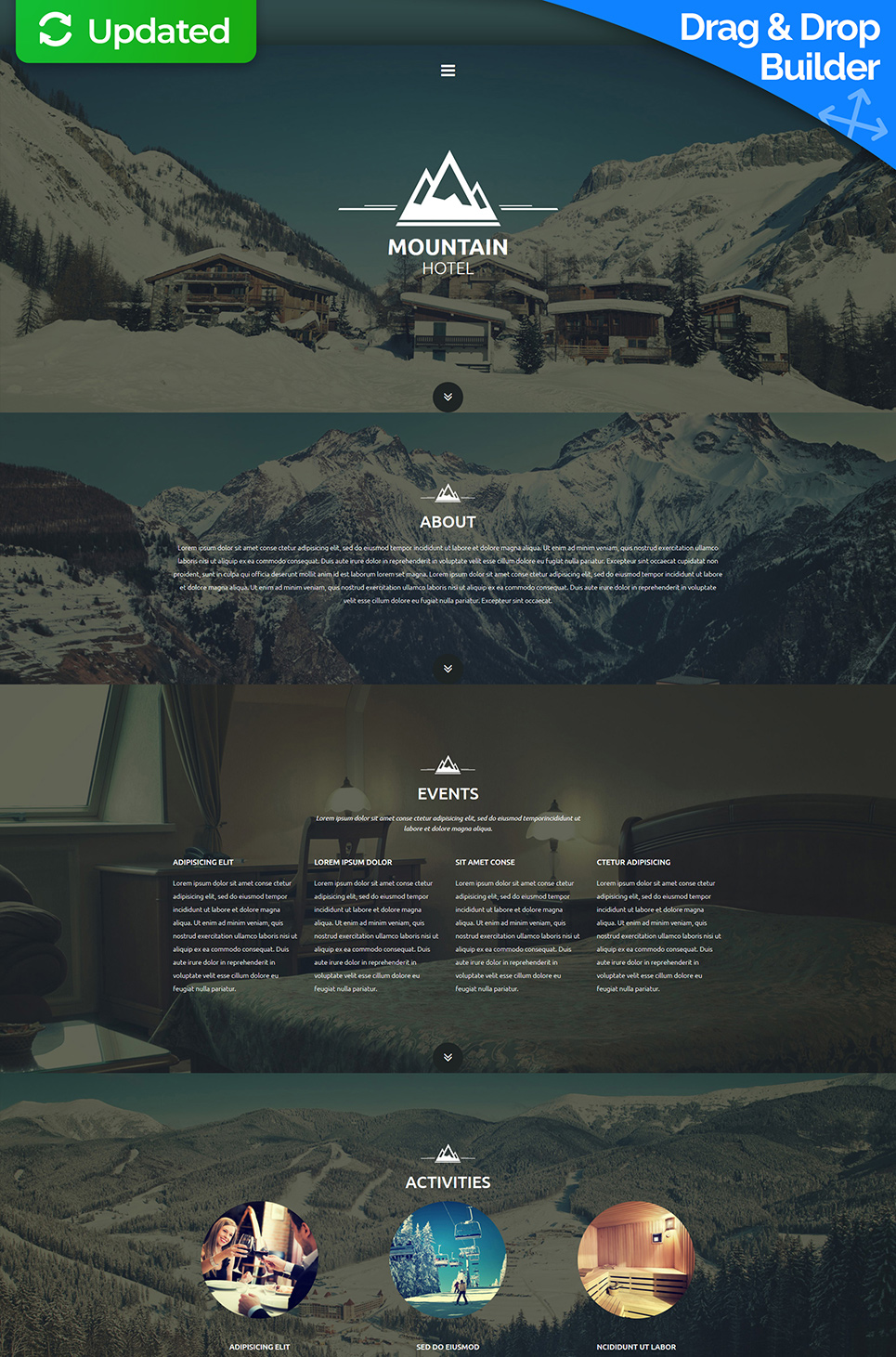 Single-page Hotel Website Template - image