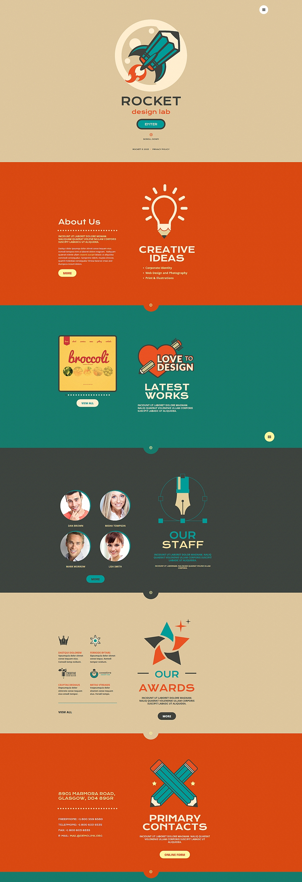 Single-page Theme for Web Design Agency - image