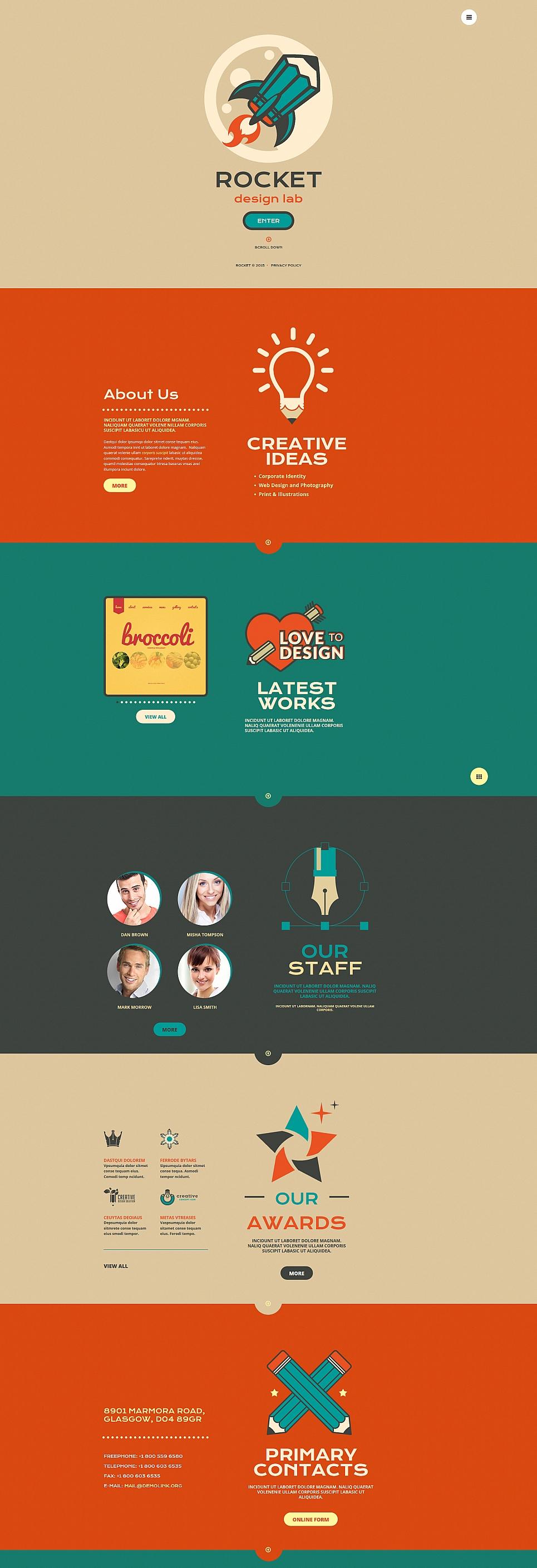 Tema de sitio web de una página para una agencia de diseño - image