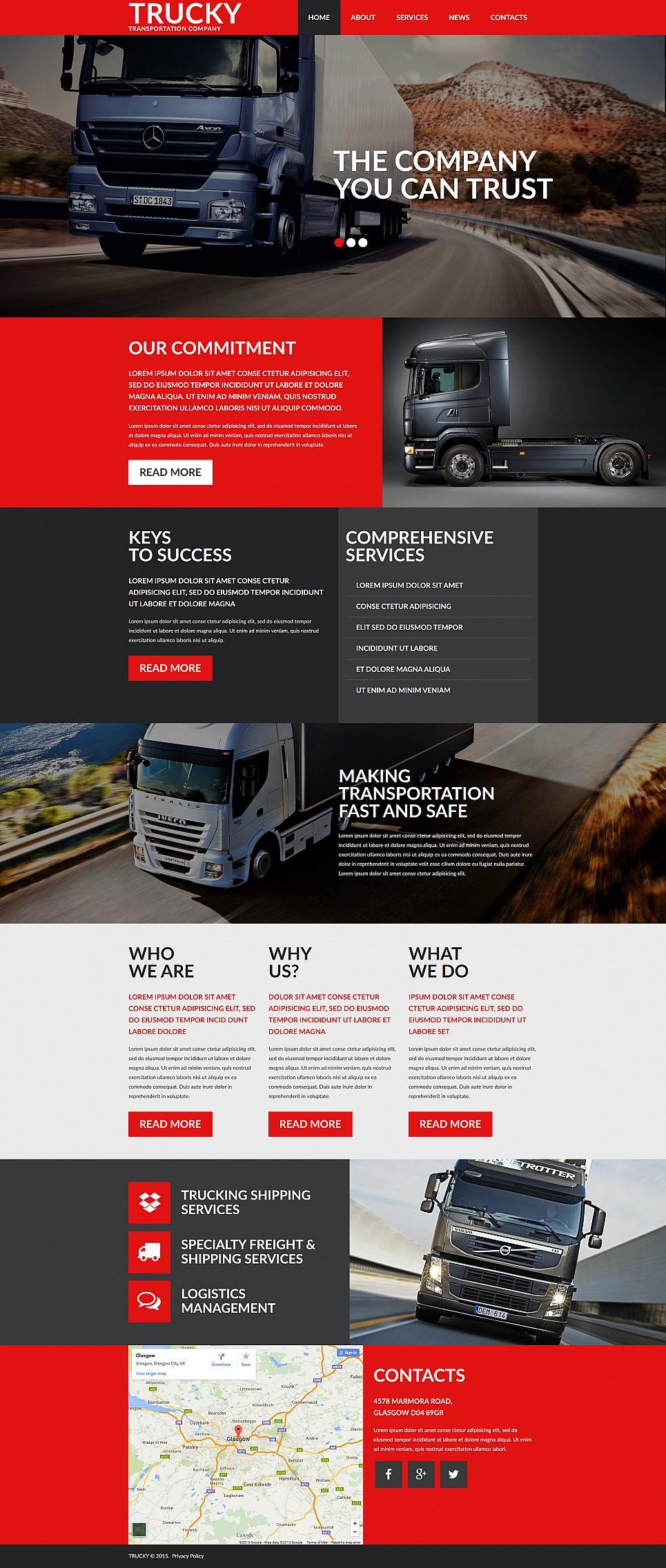 Шаблон для сайта транспортной компании - image