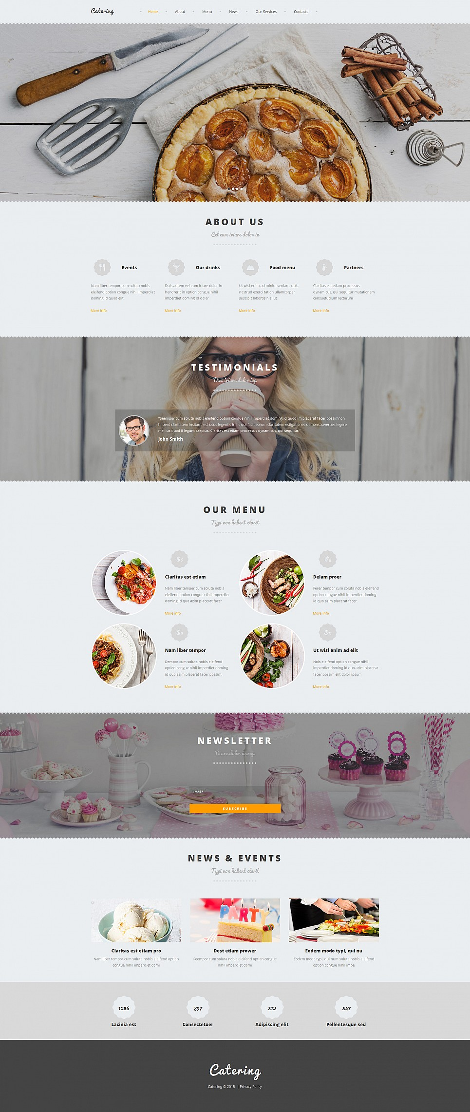 Catering Site Design with CMS - image