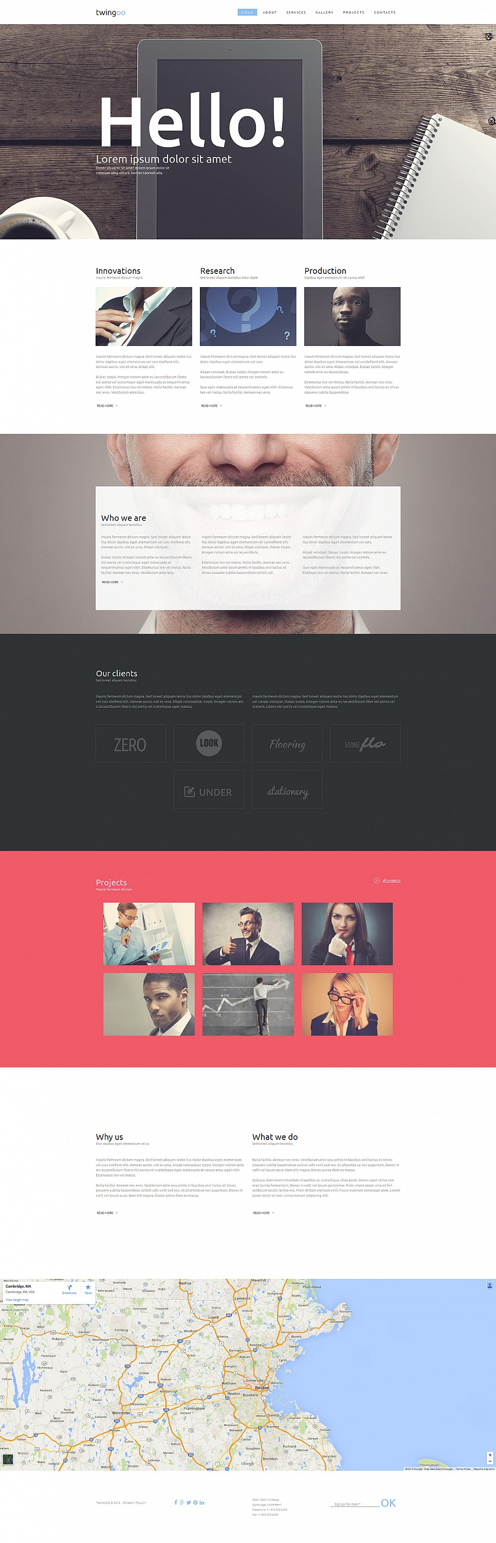 Responsive Business Site Theme - image
