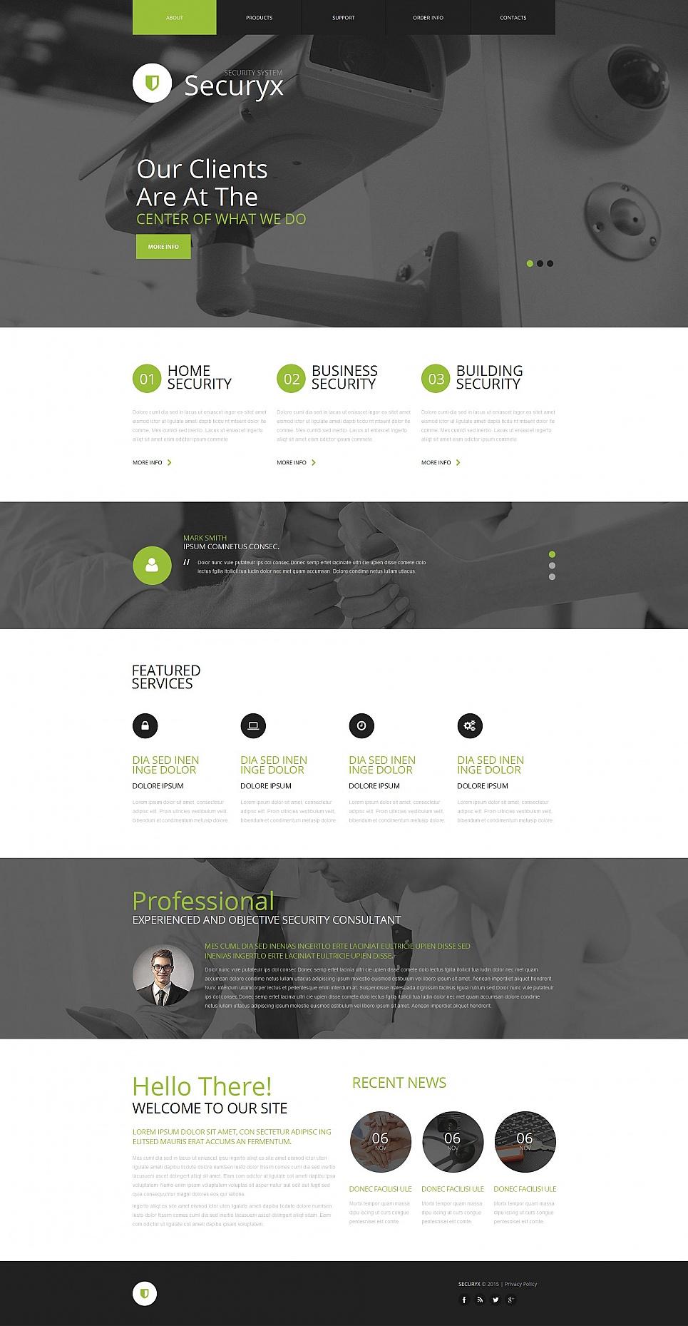 Home Security Website Design - image