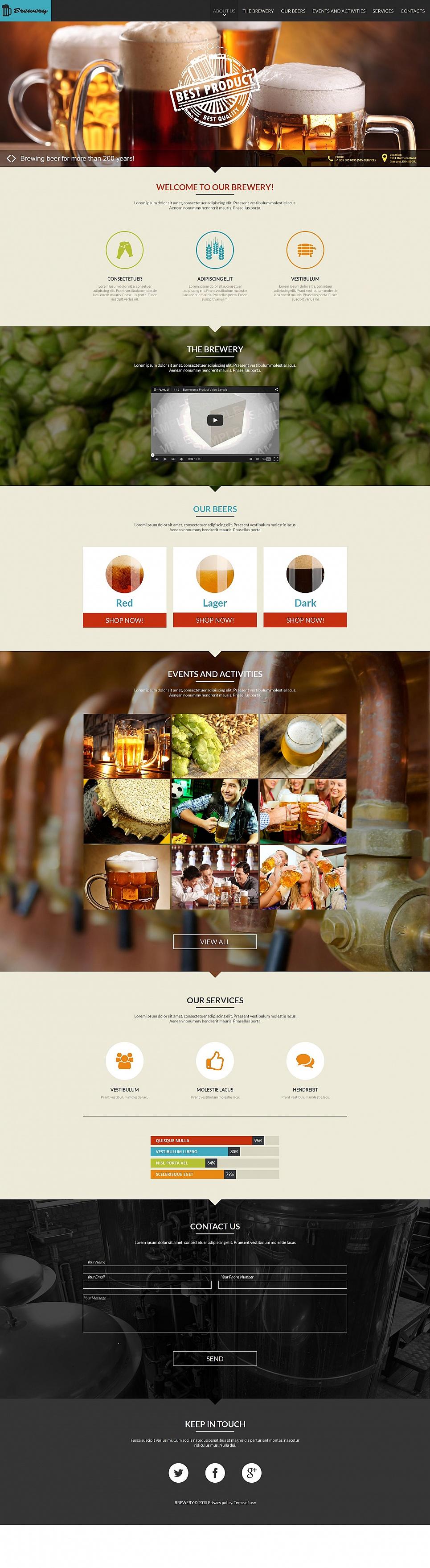 Beer Making Website Template - image