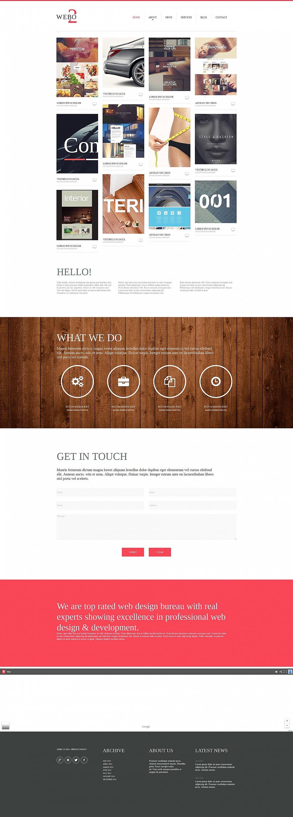 MotoCMS HTML Plantilla #54677 de categoría Diseño Web - image
