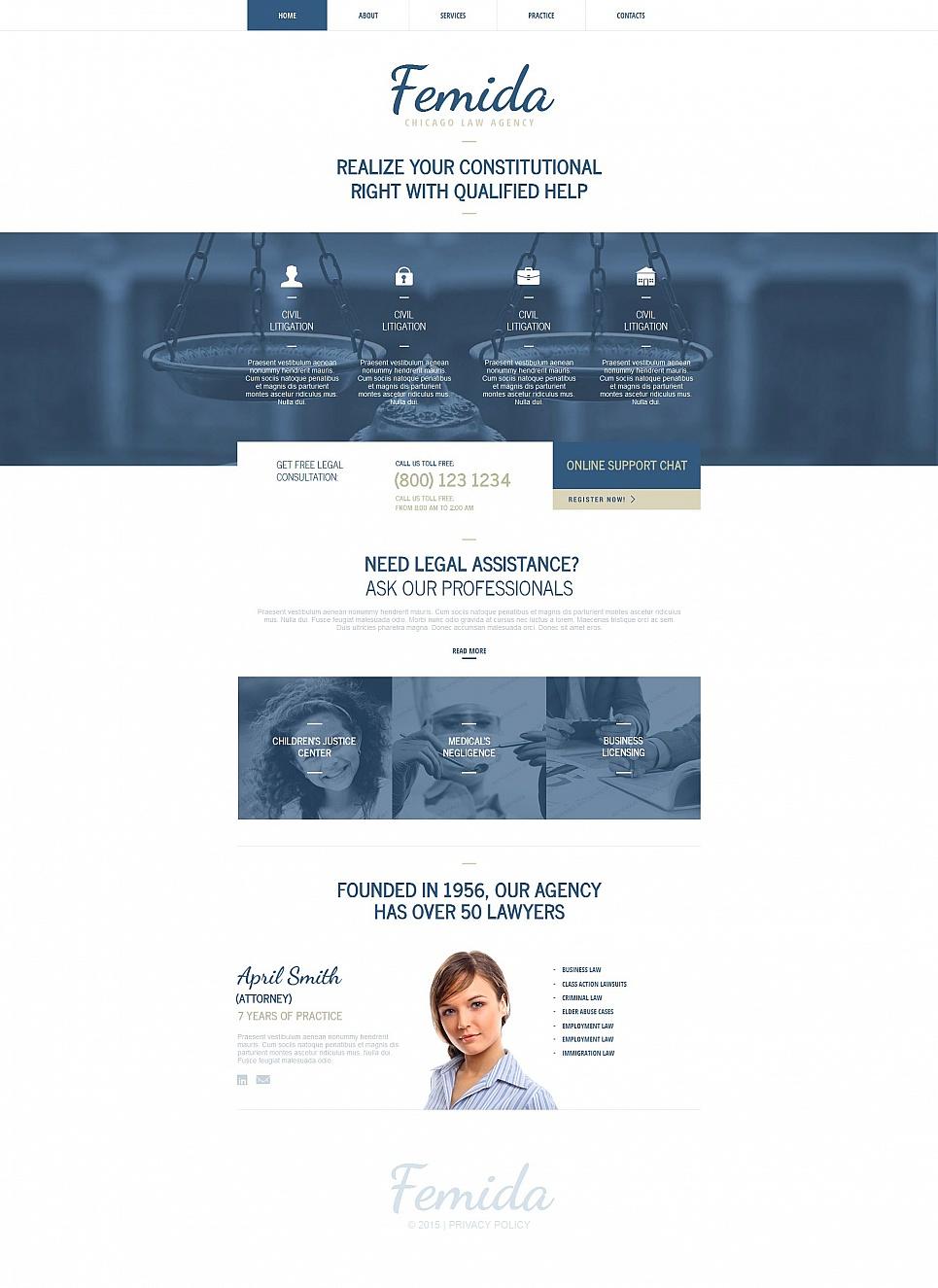 MotoCMS HTML Szablon #54680 z kategorii Prawo - image