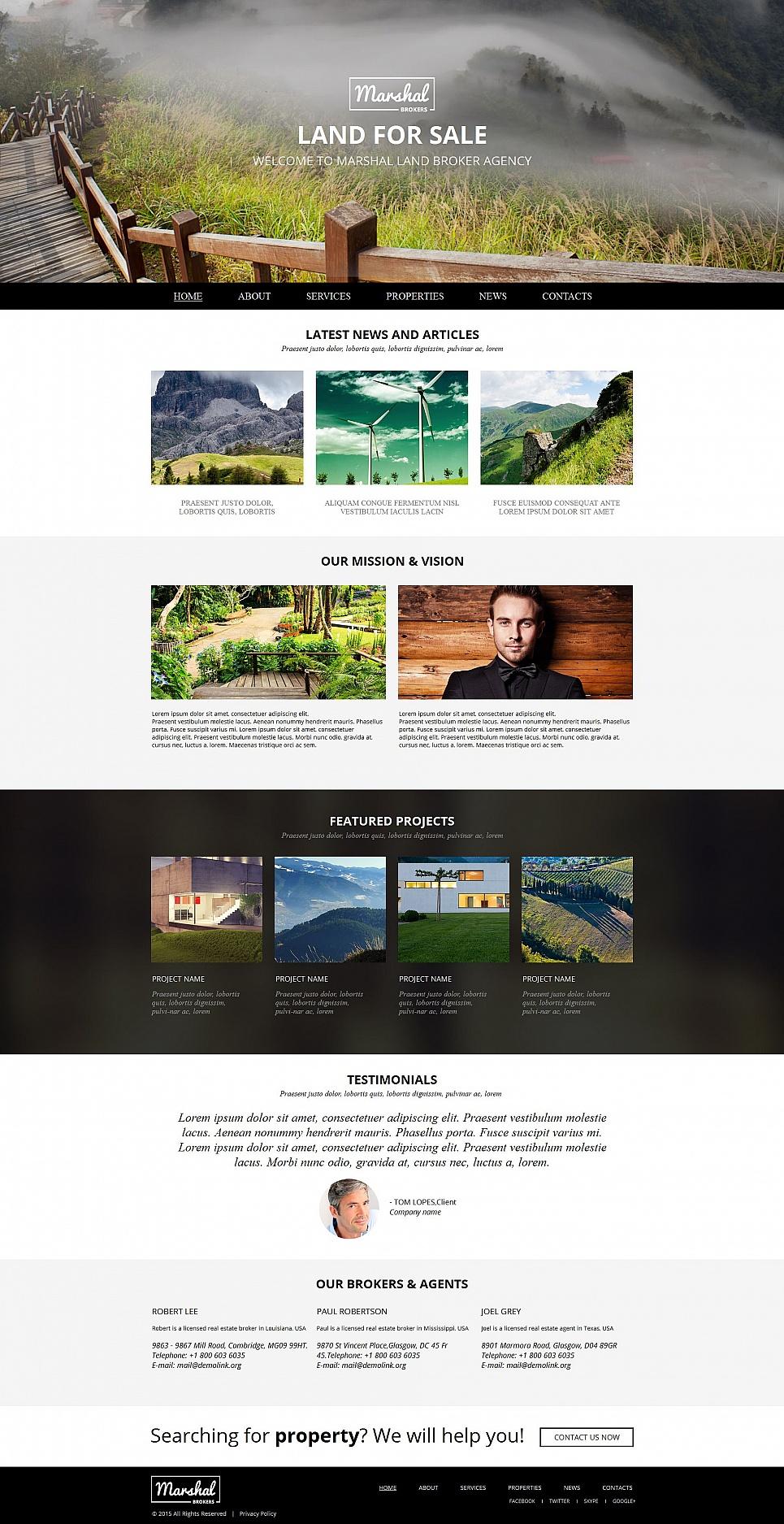 MotoCMS HTML Plantilla #54682 de categoría Inmobiliarias - image