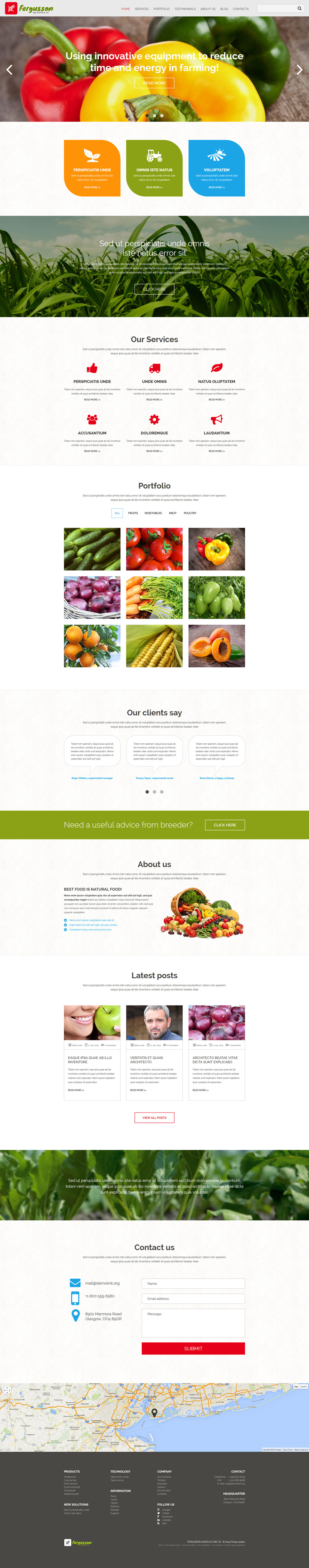 template for joomla 168 with agricultural joomla template