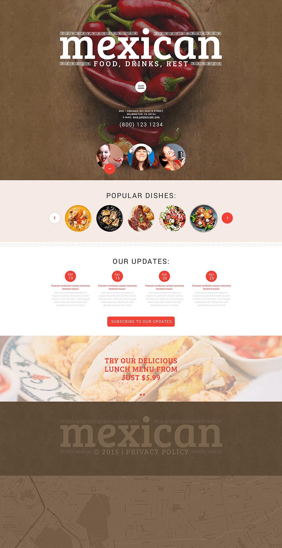 Mexican restaurant - Perfect WordPress Theme for Restaurant Business Websites