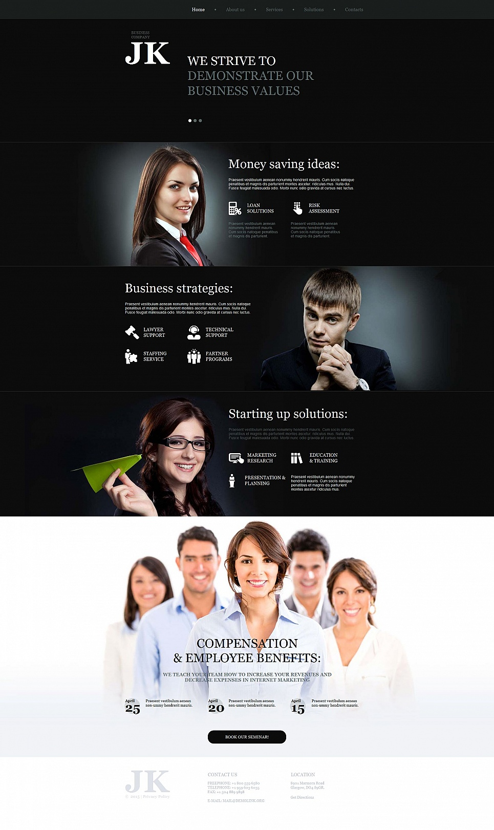 Website template for business company