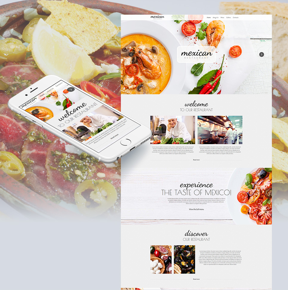 Mexican Restaurant Website Design - image