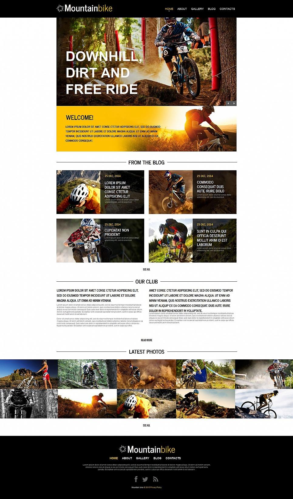 Mountain Bike Website Design - image