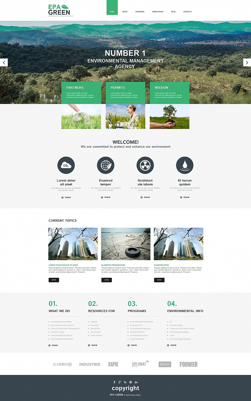 Environmental Protection Agency Template - image