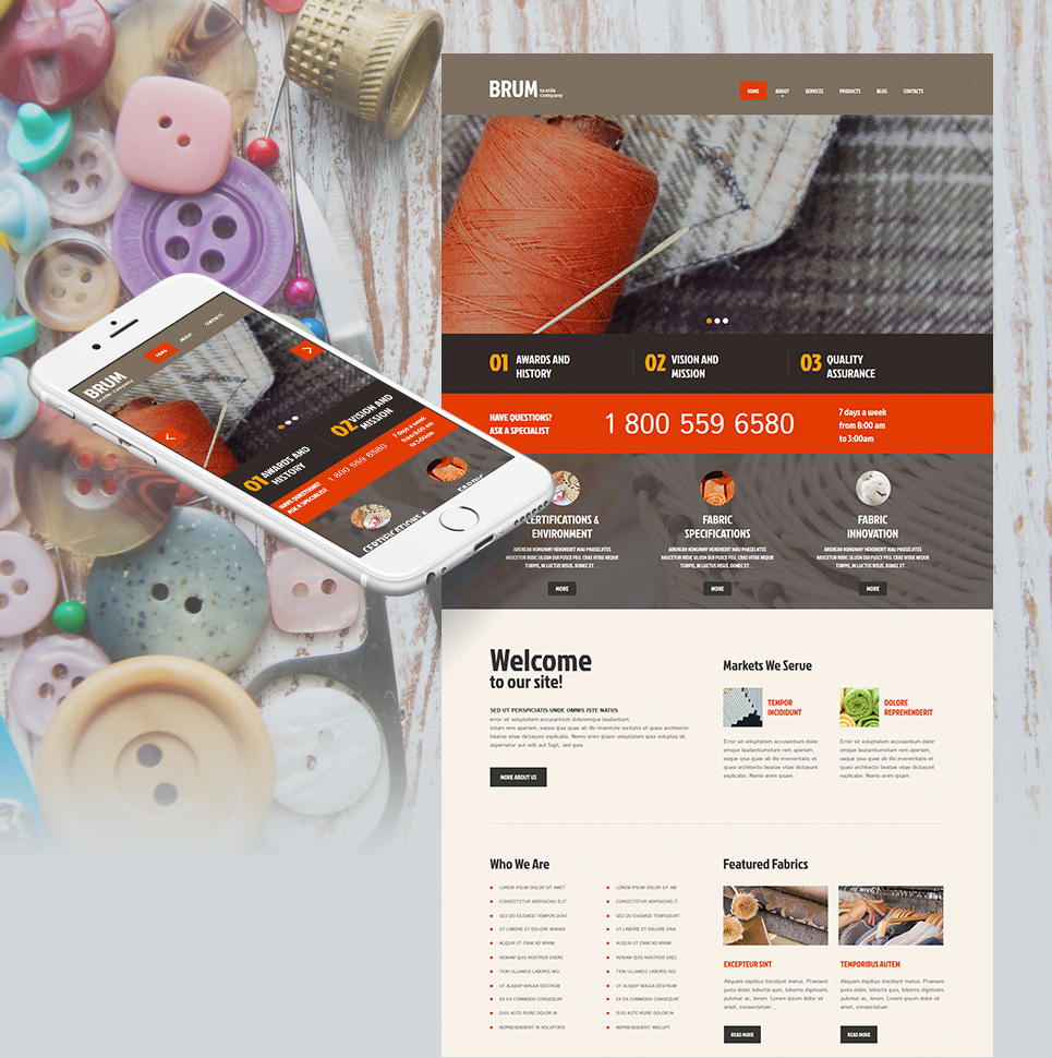 Cloth production site theme