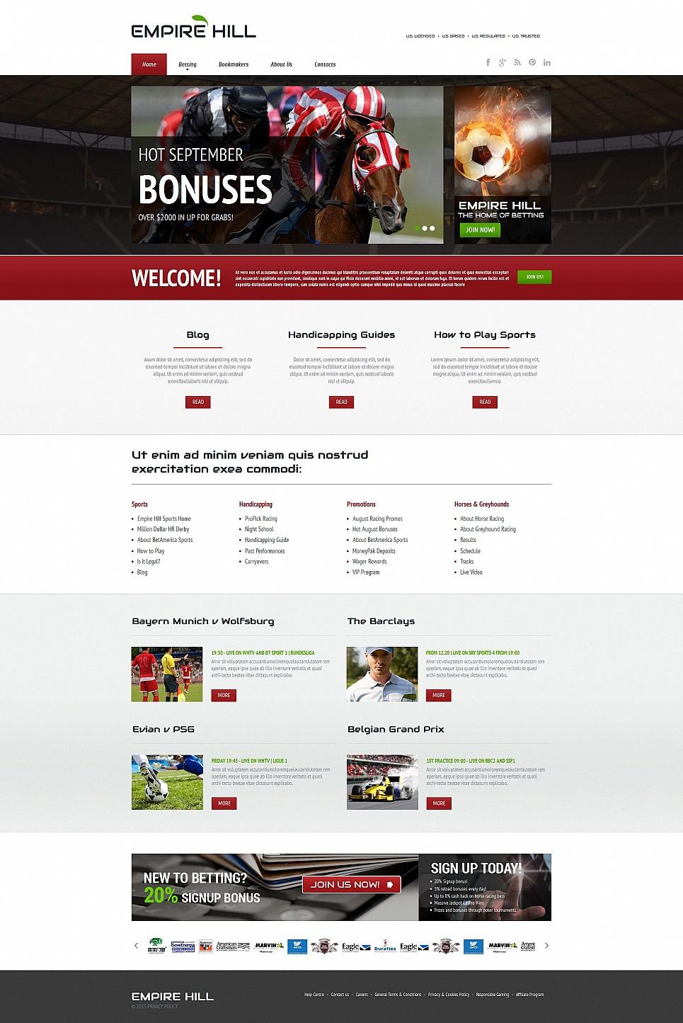 Online Gambling Website Template - image