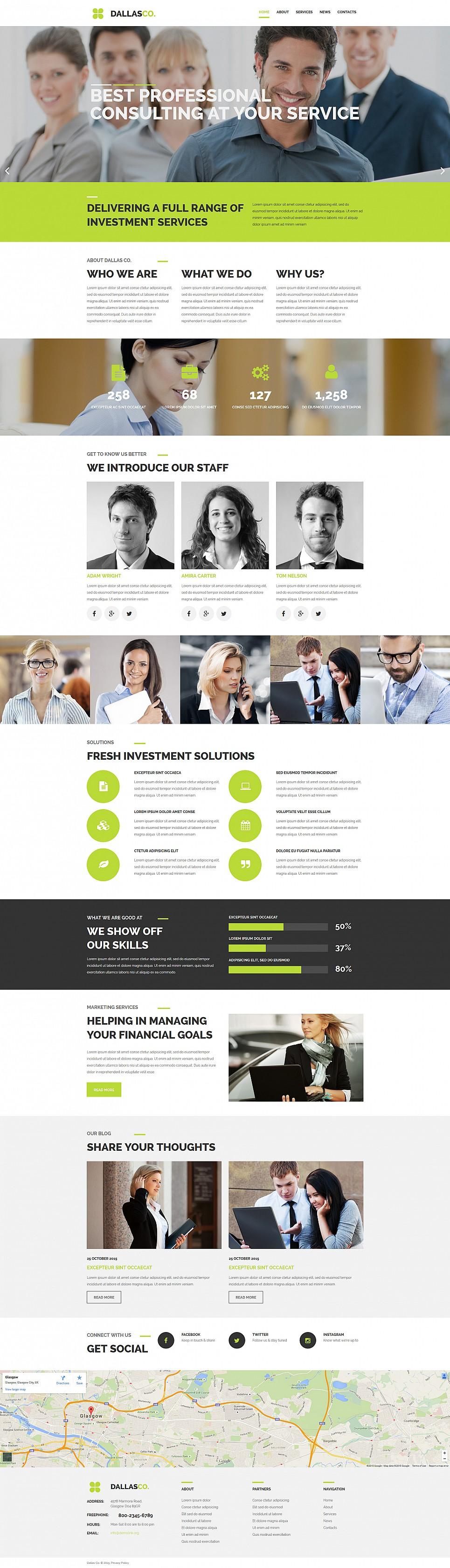 Szablon biznesowy z profi designem