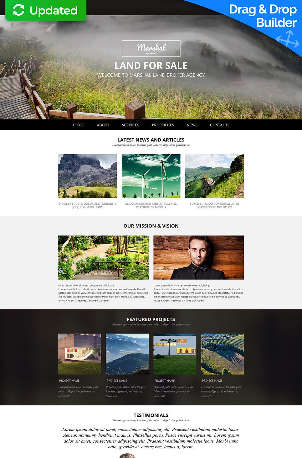 Diseño de sitio web de propiedad comercial - image