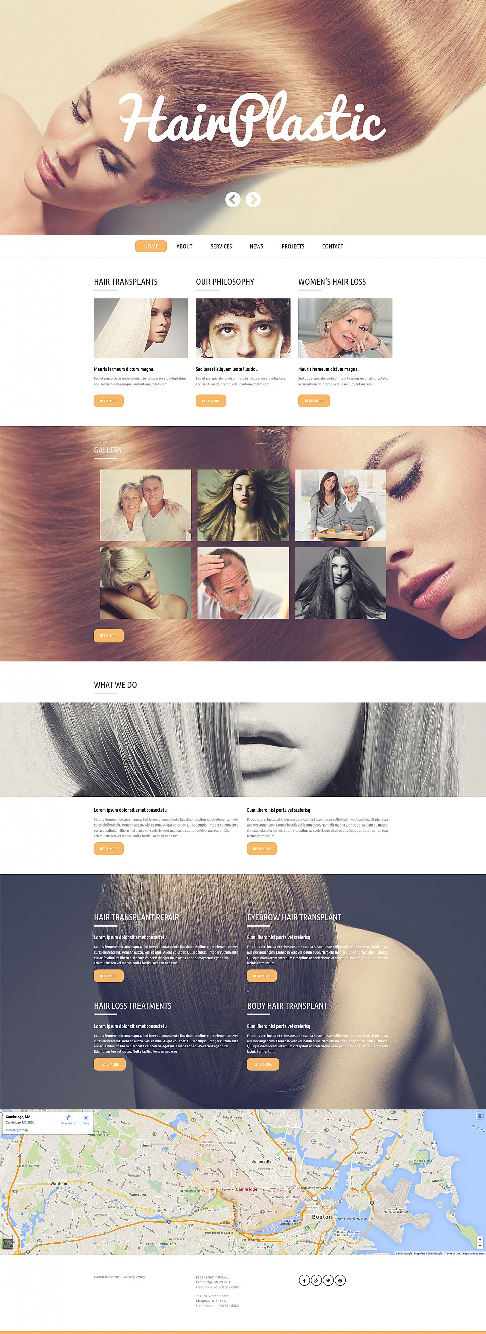 Web Design for Hair Restoration Clinic - image