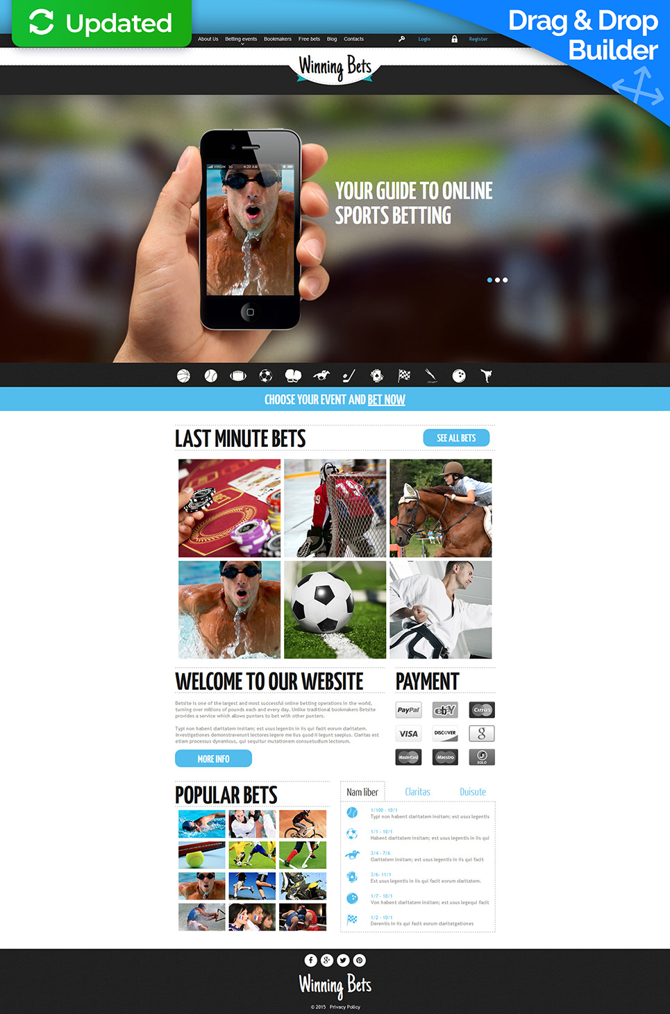 Sports Betting Website Design - image