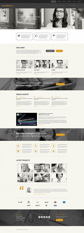 Diseño de sitio web de servicios de asesoramiento empresarial - image