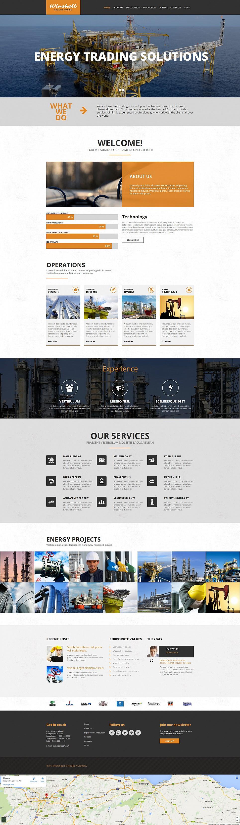 Responsive Industrial Web Theme - image