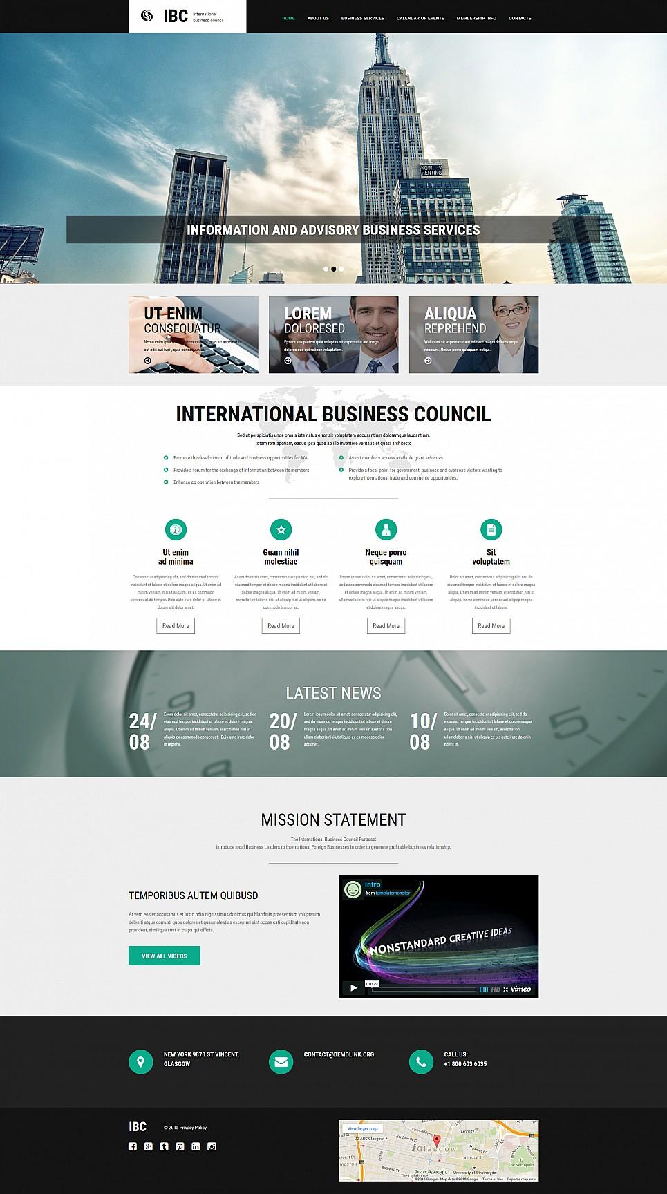 Diseño de sitio web adaptable para una empresa de negocios - image