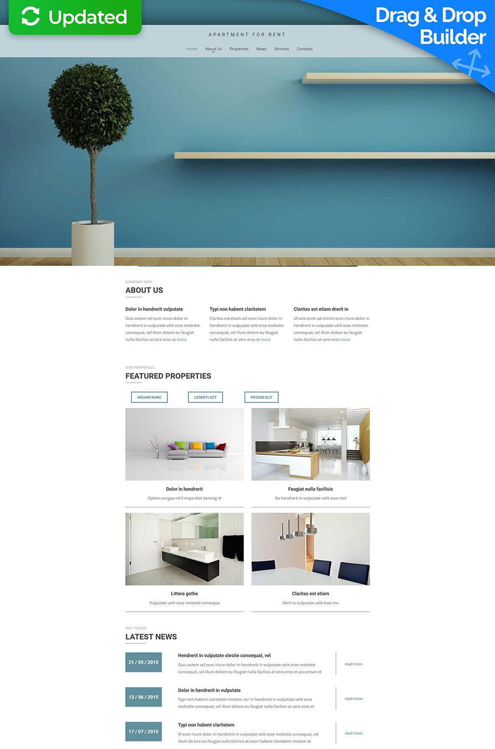 Plantilla del sitio web para una agencia de viviendas - image