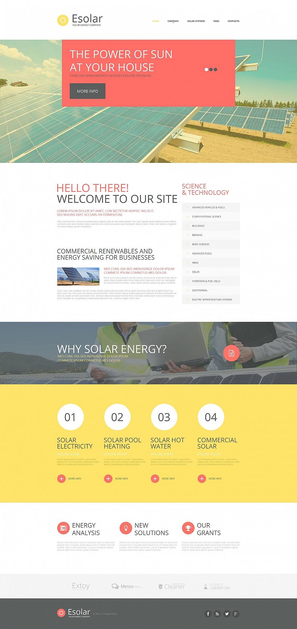 MotoCMS HTML Szablon #54916 z kategorii Energia Alternatywna - image
