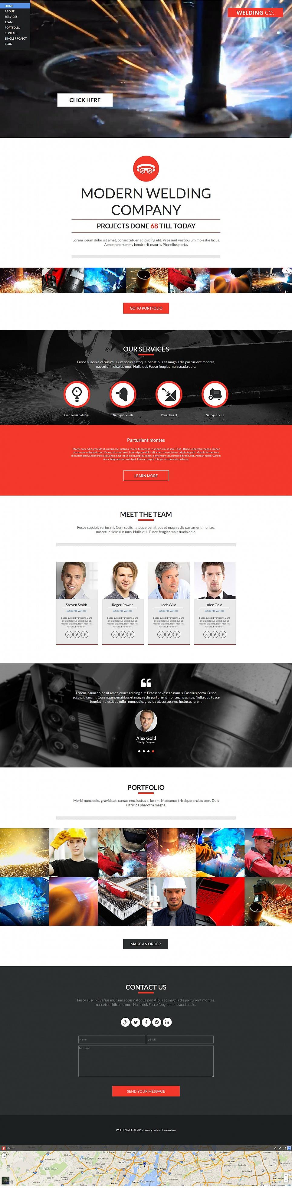 MotoCMS HTML Plantilla #54920 de categoría Industria - image