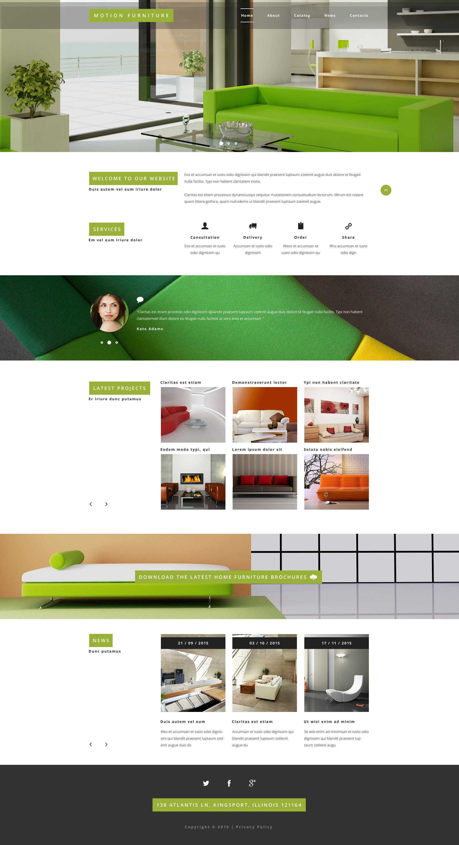 Modello siti web per un sito di arredamento for Siti di arredamento on line