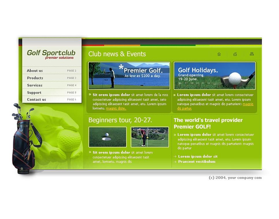 golf flash template web design templates website templates download golf flash template 5509. Black Bedroom Furniture Sets. Home Design Ideas