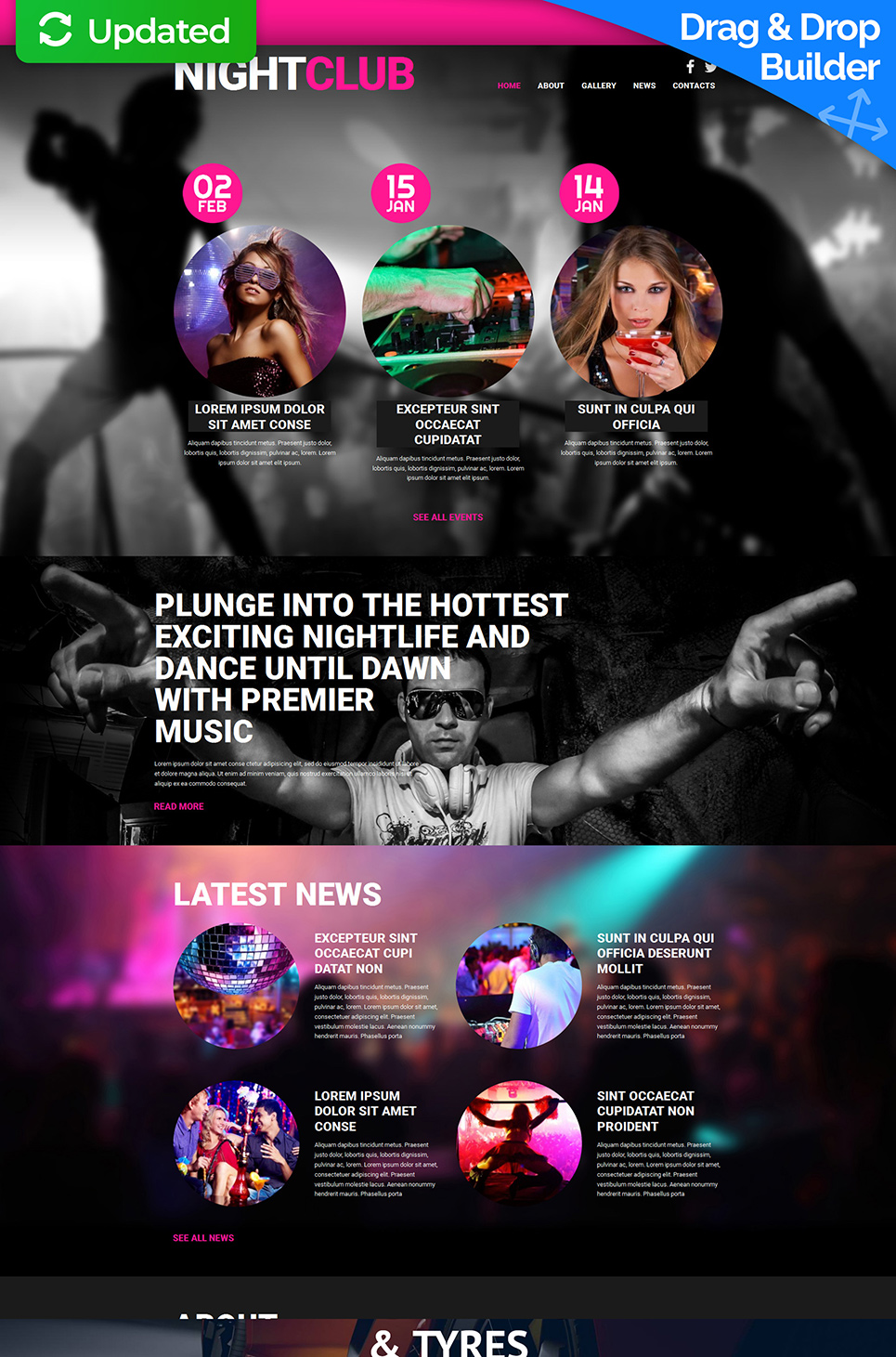 Responsive Design for Night Club Website - image