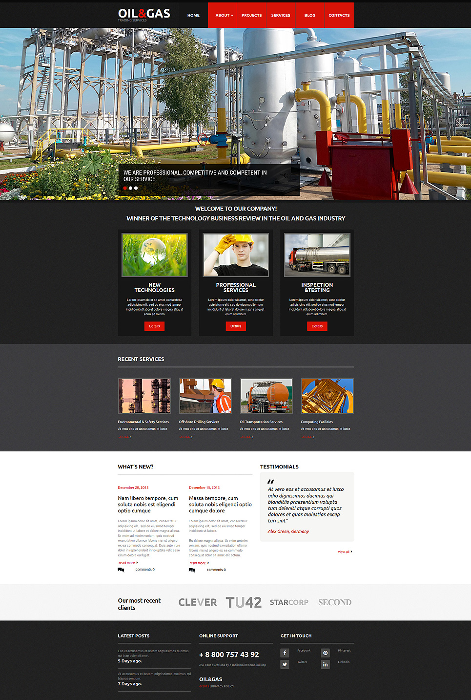 Dark web template for industrial business