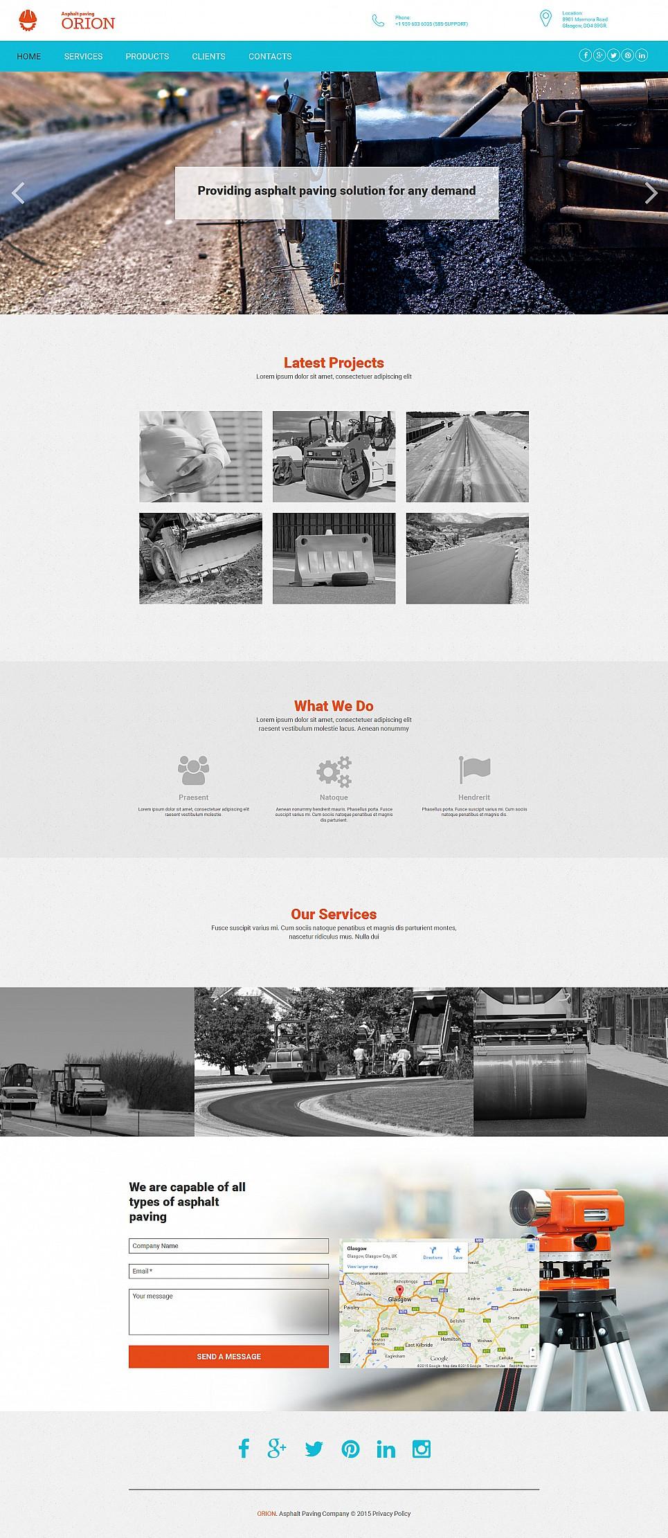 Шаблон для сайта фирмы, занимающейся укладкой асфальта - image