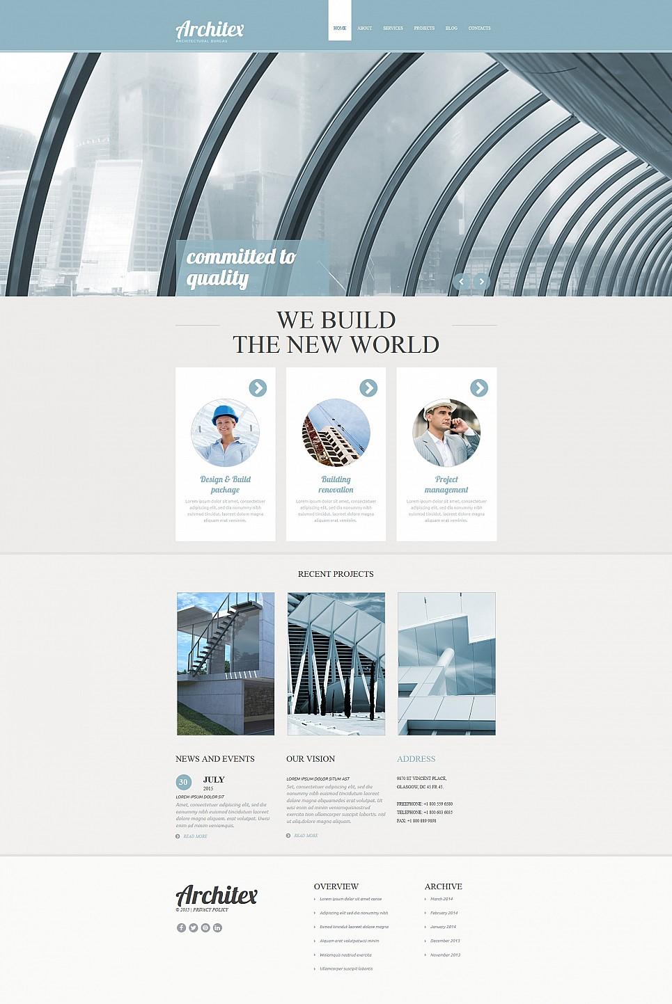 Diseño prehecho de sitio web de arquitectura - image