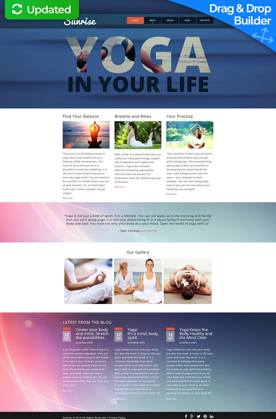 Web design for yoga club site