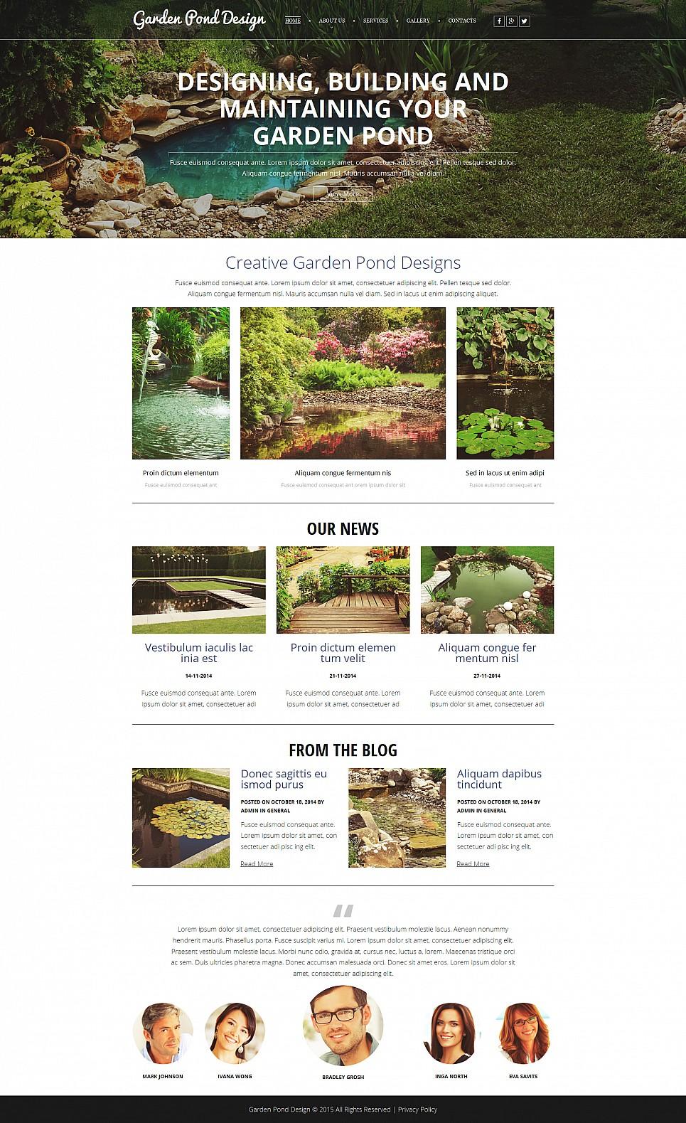 Temat dla strony poświęconej designu ogrodów