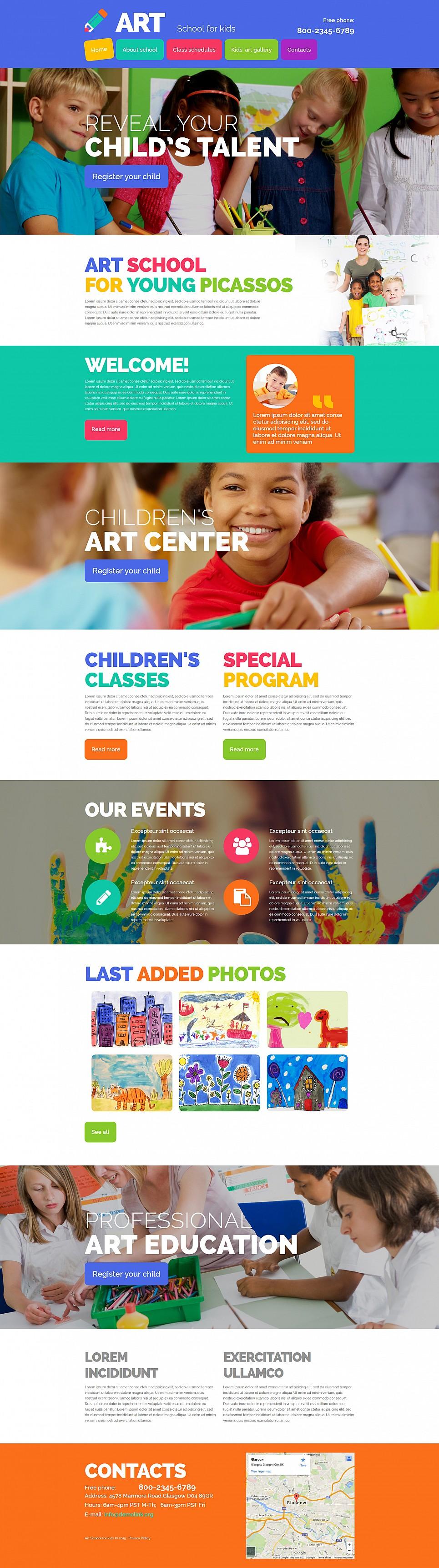 Plantilla de sitio web para una escuela de artes - image
