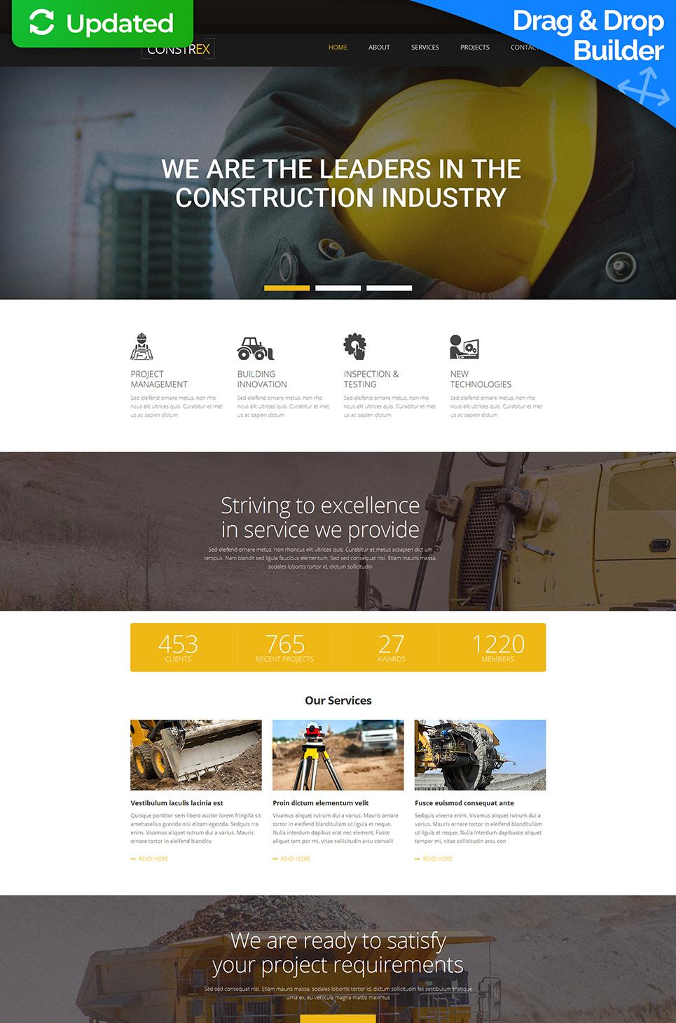 Motyw dla firmy budowlanej