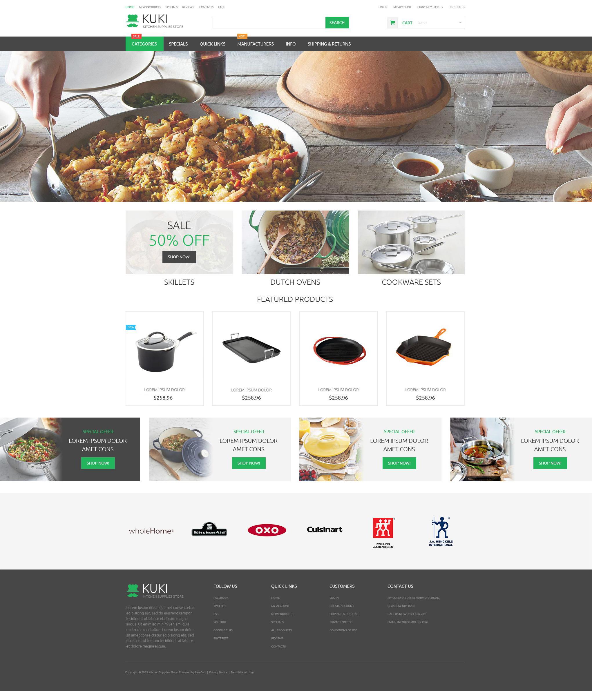 modello zencart per un sito di articoli per la casa