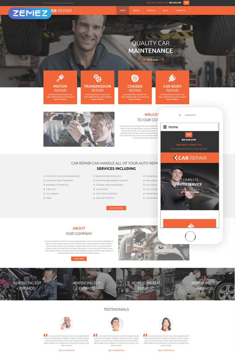 template for joomla 168 with car service joomla template