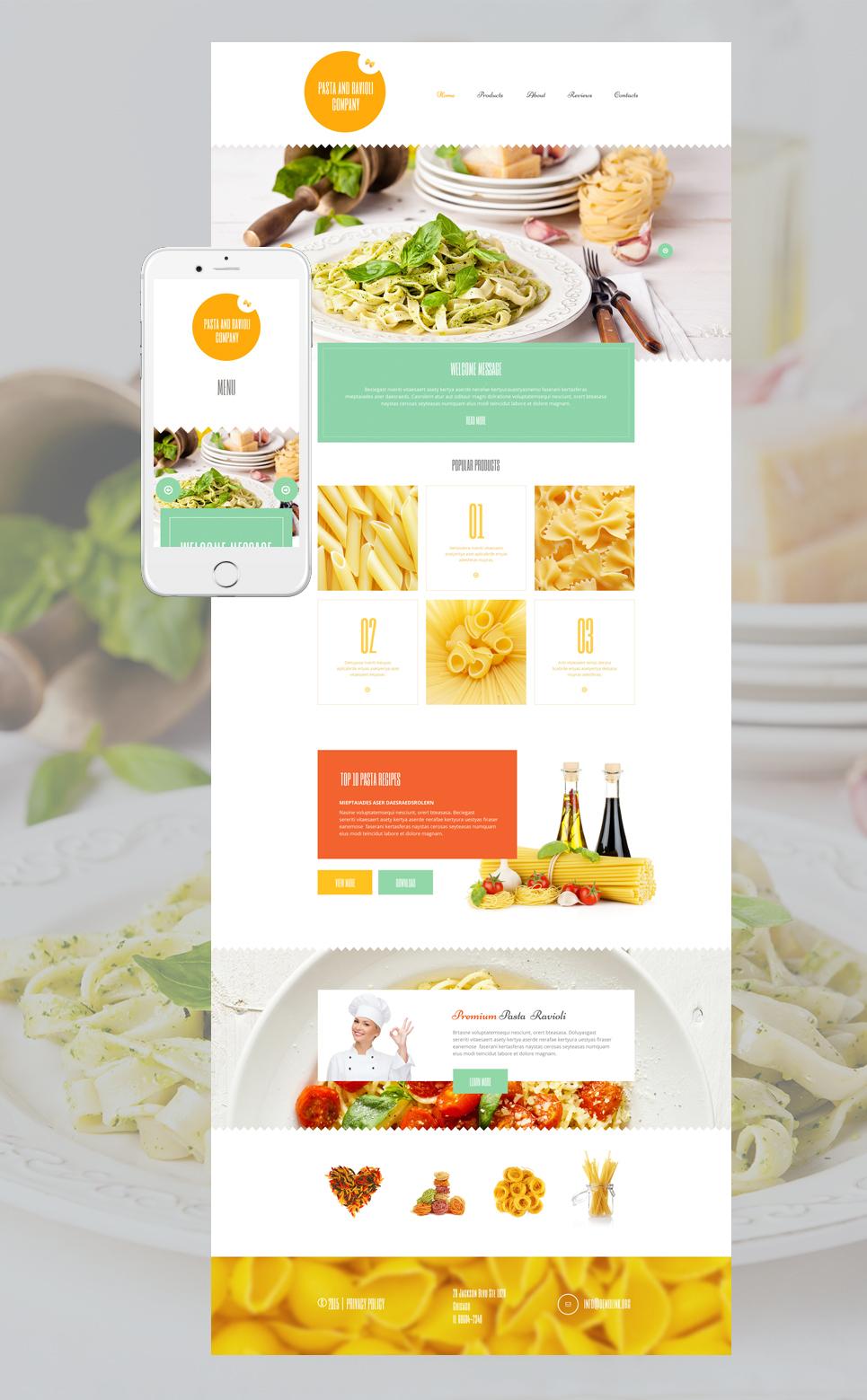 Pasta and Ravioli Company - Powerfull Responsive Restaurant WordPress Theme